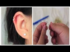 DIY: Fake Cartilage Piercing w/ PAPERCLIPS (super easy) - YouTube