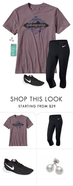 """""""Untitled #156"""" by annakhowton ❤ liked on Polyvore featuring Patagonia, NIKE, Mikimoto and Casetify"""