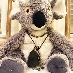 Watch owwwt @gracekkelsey  better come get ya goods quick before Greg the koala steals them!  The pyrite and agate Harlie wrap necklace and choker will look HOT on you this winter.