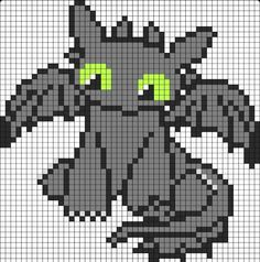 Toothless sprite grid