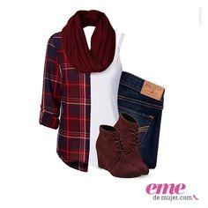 """#OutfitEme El estilo """"lumberjack"""" también se adapta a las mujeres. Para saber más de moda y ser toda una fashionista entra en nuestra página web http://ve.emedemujer.com/moda/."""