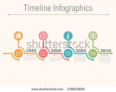 Timeline infographics design template with numbers, icons, place for date and text, vector eps10 illustration