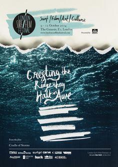 LS/FF 2014 International Features Announced - London Surf / Film Festival Surf Design, Pop Design, Layout Design, Print Design, Creative Poster Design, Poster Designs, Graphic Design Brochure, Newsletter Design, Texts