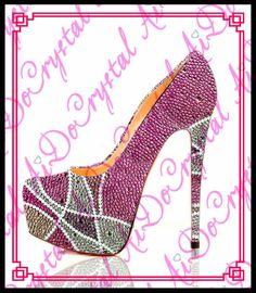 208.00$  Watch now - http://ali21v.worldwells.pw/go.php?t=1000001837245 - Aidocrystal handmade luxury 5cm platform round toe high heels fashion pink crystal 16cm stiletto heels women shoes for party 208.00$
