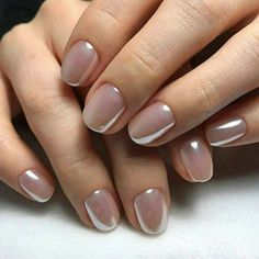 20 Ideas For Neutral Bridal Nails That Are Anything But Boring wedding nails – Wedding İdeas Cute Nails, Pretty Nails, Hair And Nails, My Nails, Nail Art Vernis, Nagellack Design, Bride Nails, Manicure Y Pedicure, Pedicures