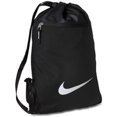 Nike Team Training Gymsack Bag ($18) ❤ liked on Polyvore featuring men's fashion, men's bags, black and mens tote bag