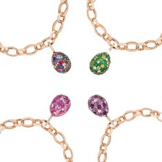 Fabergé has added to its Emotion collection with these beautiful egg charms, available in a wide range of colours and gemstones. Discover the bejewelled eggs for a jewellery studded easter: http://www.thejewelleryeditor.com/jewellery/article/easter-jewels-more-mouth-watering-than-chocolate-tiffany-faberge/ #jewelry
