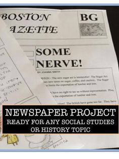 Newspaper project - ready for any topic.  Great for any unit of study.
