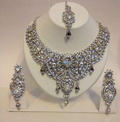 Bridal Wedding Indian Bollywood Jewellery Set | eBay