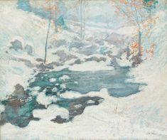 John Henry Twachtman, Icebound (ca. 1889)