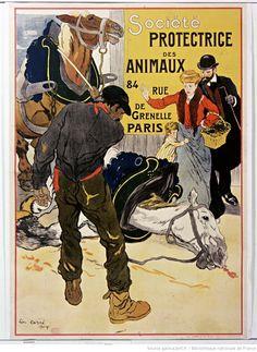 1904 Société protectrice des animaux 84 rue de Grenelle Paris, Léon Carré