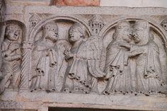 Catedral de Piacenza,relieve romanico  Italia