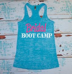 Bridal Bootcamp Tank Top. S-2XL. Bride by strongconfidentYOU