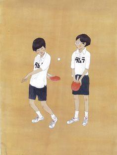 松本大洋 版画「ピンポン」 - ヤフオク!