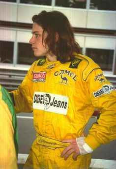 Young Jacques Villeneuve in Formula 3