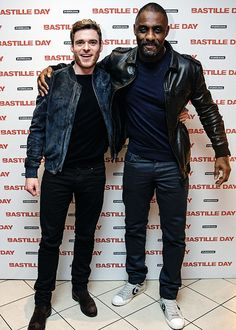 Richard Madden and Idris Elba attend a special multimedia screening of Bastille Day // 24 March 2016.