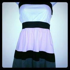 Strapless Sun Dress Halter style Sun Dress. White, Gray, Light Pink and Black Rue 21 Dresses Strapless