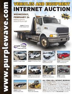Vehicles and Equipment Auction February 24, 2016 http://purplewave.com/a/160224A
