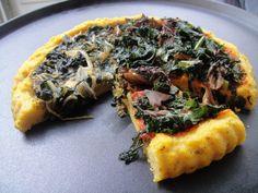 herbed polenta pizza crust.