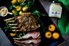 Dijon Roasted Rack of Lamb · The Crepes of Wrath Lamb Recipes, Cooking Recipes, Cooking Ideas, Yummy Recipes, Recipies, Lamb Chops, Pork Chops, Mutton Goat, Roast Rack Of Lamb