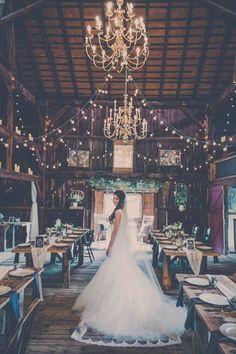 Rustic Wedding Decor Ideas / http://www.himisspuff.com/rustic-indoor-barn-wedding-reception-ideas/10/