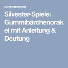 Silvester-Spiele: Gummibärchenorakel mit Anleitung & Deutung