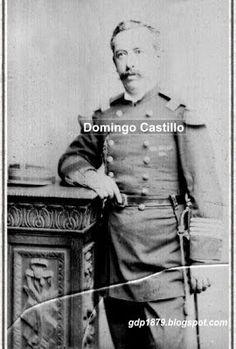 Domingo Castillo (1839-1883) 1854 ingresa como soldado al Regimiento Buin. 1859 asciende a Cabo 1°. Participa en la guerra de Arauco. 1879 asciende a Teniente y es trasladado al Regimiento Santiago. Participa en la Batalla de Los Ángeles y asciende a Capitán. Pelea en Tacna y posteriormente en la campaña de la sierra en la Batalla de Pucará. Murió de fiebre amarilla en el Callao en el año 1883. Fuente: El Álbum de la Gloria de Chile, B. V. Mackenna Pág. 335 a 340