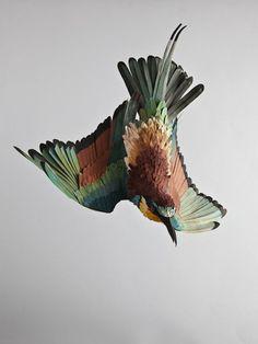 Birds Paper Sculptures.Lifelike Paper Birds by Diana Beltran Herrera.