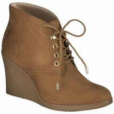 f7f2d7012a21 Women s Merona® Kadence Wedge Ankle Boot - Chestnut Wedge Ankle Boots