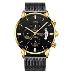 b7c241bc8822 NIBOSI Uhr Männer Luxus Berühmte Uhren Top-Marke Herren