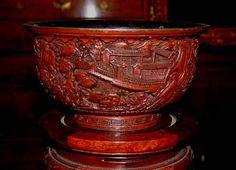 18th Century Chinese Cinnabar Bowl