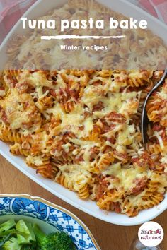 Tuna pasta bake. Try this quick, cheap and tasty fish recipe, as a teatime meal to cook for all the family...even fussy eaters will love it!