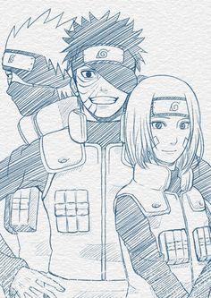 Team Minato - Kakashi, Obito, Rin