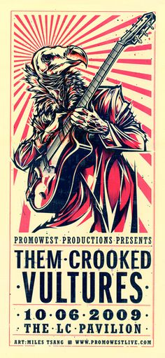 Them Crooked Vultures by Miles Tsang, via Behance
