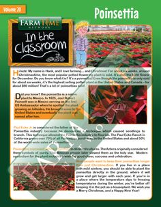 Christmas Activities, Christmas Fun, Birth Flowers, Elementary Education, Fourth Grade, Poinsettia, Agriculture, Lesson Plans, Planting Flowers