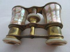 Parisian Style Opera Binocular Mother of Pearl Brass Frame – Designer Unique Finds