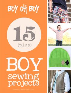 10+ boy sewing projects