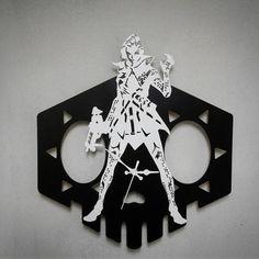 Overwatch Sombra handmade wooden wall clock