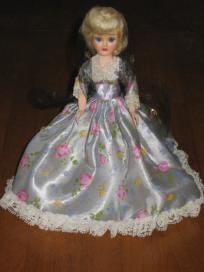 2 Blue Bonnet American Heritage Plastic Vintage  Dolls