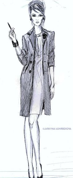 APARTMENT57 fashion illustration - love her pose and face very sassy