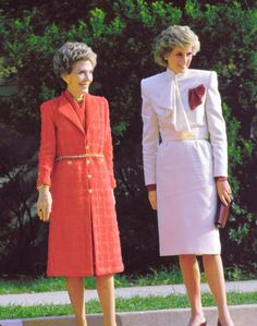 Diana and Nancy Reagan