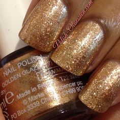 @PureNailLacquer Pure Gold layered over #MarksandSpencer Golden Glaze