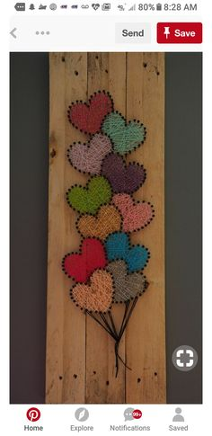 Balloons instead of hearts, as can be seen from the film UP # Balloons # Her . - Balloons instead of hearts, as can be seen from the film UP # balloons # heart of – - Crafts To Do, Arts And Crafts, Diy Crafts, Wooden Crafts, Wooden Diy, Creative Crafts, Yarn Crafts, Diy Wood, Creative Ideas