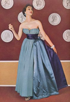 Jacques Fath Evening Dress, 1953.