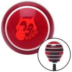 Red Felix The Cat Thumbs Up Red Stripe Shift Knob with M16 x 15 Insert