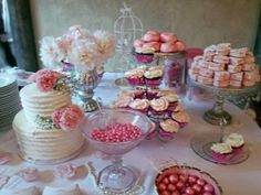 A gorgeous and delicious dessert table for weddings or parties on a budget.
