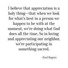 appreciation -- fred rogers