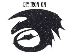Diy NIGHT FURY DRAGON Iron On Logo Vinyl by wingsnthings13 on Etsy