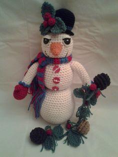 SNOWY the Snowman  Crochet Amigurumi  Crochet by ToledosTalents
