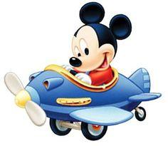 Resultado de imagem para mickey no aviao